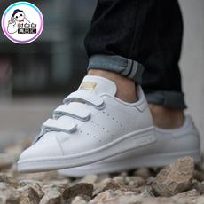 阿迪达斯三叶草魔术贴小白鞋金尾史密斯Adidas真皮板鞋秋季