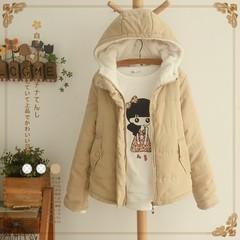 森女学院部落少女棉衣冬季外套短款加厚女装棉服冬天中学生小棉袄
