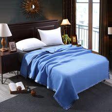 酒店客房毛毯羊毛毯子加厚蓝色主题宾馆宾馆毯单人双人毛毯