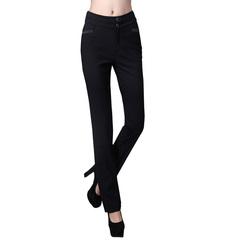 新款西裤中腰修身直筒长裤女防皱大码韩版包邮职业女西裤