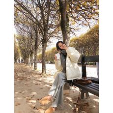 林珊珊 2017秋冬新品原宿ulzzang宽松加厚短款棉面包服棉衣袄外套