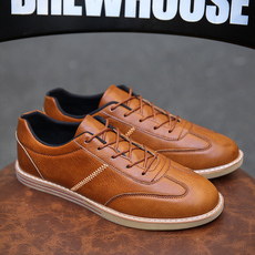 疯马皮皮鞋街头时尚休闲小皮鞋复古经典男鞋英伦风格单鞋