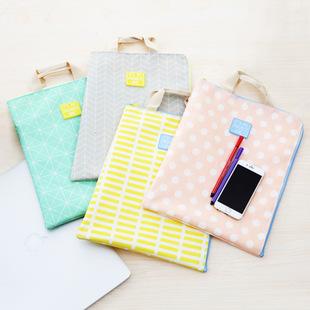 2017新款韩版牛津双层A4文件手提包女公文包小方包多功能包资料袋