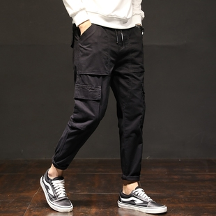 Men Pants HipHop Harem Joggers 2018 Male Long Trousers Green