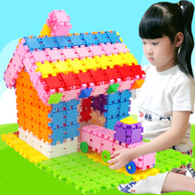 幼儿园儿童桌面拼装玩具3-6周岁宝宝4岁拼插女孩男孩益智方块积木