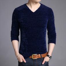 毛绒加厚T恤男冬天衣服长袖t恤打底衫保暖上衣男针织衫冬季毛毛衣