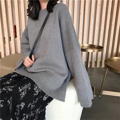 200斤胖mm学生韩版冬装加大码宽松显瘦中长款纯色复古套头毛衣女