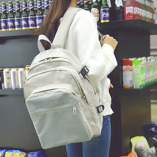 加厚升级版大容量双肩包女日韩高中学生书包校园背包男15寸电脑包