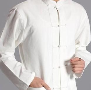 中国风男士大码唐装纯棉老粗布中式服装男休闲衬衣长袖汉服