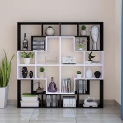 书架简易置物架简约现代客厅隔断组合儿童卧室创意格子架落地书柜