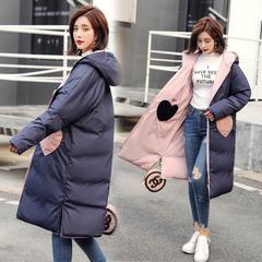 冬季女装2018新款潮时尚双面穿棉服网红外套两面穿棉衣学生森系潮