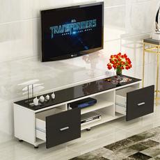 简约电视柜钢化玻璃客厅卧室小户型创意茶几组合双抽屉