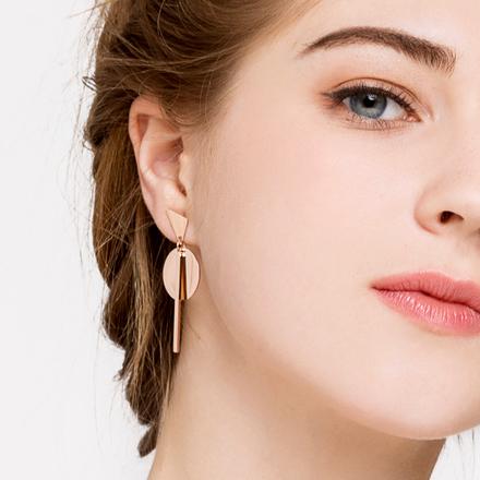 JOJO显脸瘦的耳环欧美大气耳钉耳坠韩国个性潮人百搭耳环网红耳饰