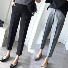2009 New Female Spring and Summer Nine-minute Pants Korean Edition Loose Student Straight Pipe, Broad-legged Leisure Calf Hallen Pants
