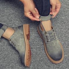 冬季韩版潮流马丁鞋男低帮复古大头皮鞋英伦靴增高工装鞋子男鞋潮