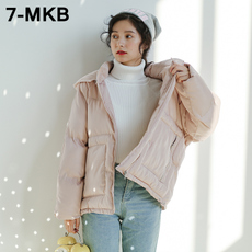 短款棉衣女2017冬季新款韩版学生宽松bf原宿风外套棉袄面包服棉服