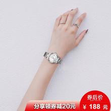 卡西欧手表女CASIO简约时尚细带小巧表盘钢带防水石英表女士手表