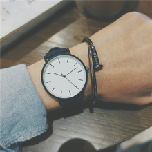 Boys, art, retro watches, boys, junior high school girls, Korean version, simplified ulzzang, casual quartz men watch.