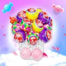 美味棒 水果味棒棒糖1000g【散装2斤约80个 3种包装】糖果喜糖