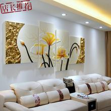 饰画现代简约客厅高档别墅大厅挂画3D立体浮雕创意家居壁饰摆件