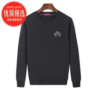 春秋男式长袖T恤纯棉爸爸装大码中老年人父亲运动晨练卫衣打底衫