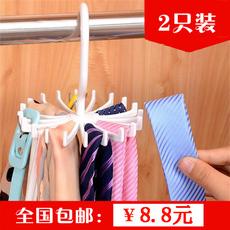360度可旋转头绳领带丝巾挂架 皮带链条可爱创意收纳挂架挂钩包邮