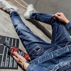 jeans潮流牛仔裤修身型小脚厚款韩版男式牛仔裤秋冬款修身裤男版