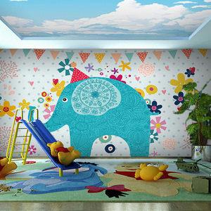 class=h>儿童 /span>房卧室幼儿园教室背景墙纸