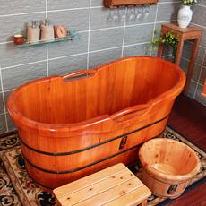 橡木桶沐浴桶泡澡木桶浴盆浴缸洗澡桶成人木质洗浴盆加厚