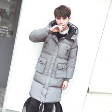 棉衣男外套2017新款冬季面包服中长款潮流情侣装棉袄韩版修身棉服