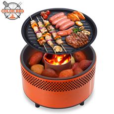 【天天特价】木炭烧烤炉子室内户外便携防风无烟烧烤架bbq烤肉炉