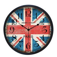 欧式创意客厅卧室个性 HICAT 复古10寸静音挂钟 圆形简约现代钟表