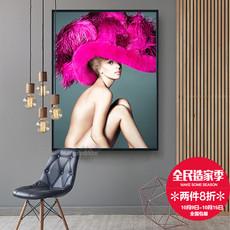 女装店个性装饰画 美容美甲SPA馆墙画彩妆化妆品店挂画时尚壁画