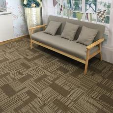 条纹提花办公室地毯工程会议室走道酒店宾馆商用PVC拼接方块地毯