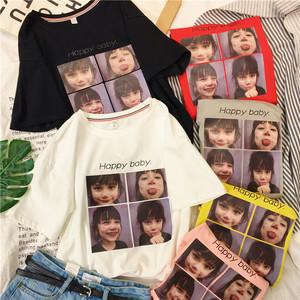 短袖2018新款韩版女装宽松百搭学生上衣纯棉t恤女半袖韩范ulzzang女式t恤