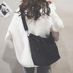 托特包女2018新款日韩文艺布袋包ulzzang帆布单肩大包宽带斜挎包