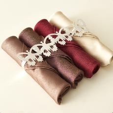 欧式口布餐巾布高档酒店餐布口水布样板房餐桌布艺西餐厅折花口布