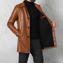 欧派盛男装 皮夹克加绒加厚皮衣 中长款 进口皮质 粉丝福利价
