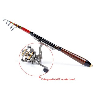 Telescopic Fishing Rod Travel Spinning Lures Rod Raft Pole C