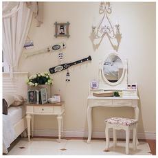 欧式田园实木卧室小户型梳妆台 现代简约化妆桌