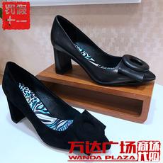 商场专柜tigrisso蹀愫女鞋2017秋款女单鞋TA87597-12 TA87597-13