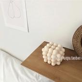 韩国ins同款 白色蜡烛几何方块小众家居装 饰民宿咖啡馆摆件摆拍道