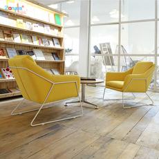 简约现代沙发椅设计师小沙发北欧家用铁艺休闲椅单人创意布艺沙发