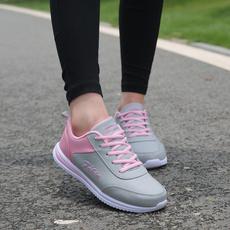 中老年运动鞋女鞋秋冬季轻便防滑中年妈妈鞋平底舒适休闲跑步鞋女