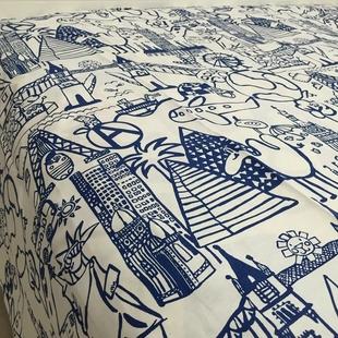 2.4米宽幅棉麻布料沙发盖巾布料宜家风格桌布窗帘面料加厚帆布