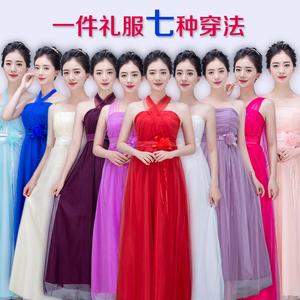 伴娘服长款2016新款伴娘礼服短款姐妹裙红色新娘敬酒服晚礼服包邮伴娘服