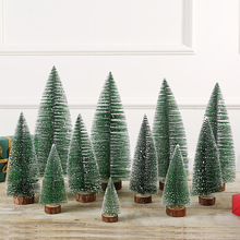 Christmas products, pine needles, Mini Christmas tree sets, household desktop ornaments, Christmas decorations.