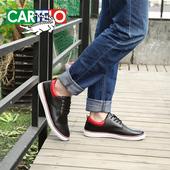 卡帝乐鳄鱼男鞋夏季英伦拼色板鞋男士简约休闲鞋系带流行时尚潮鞋