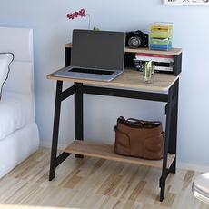 慧乐家外贸正品北欧复古简约双层宿舍家用台式机电脑桌收纳书桌子