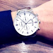 运动精钢带腕表夜光石英学生多功能男表 手表防水时尚 正品 潮流男士